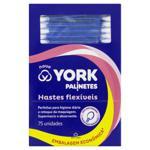 Hastes Flexíveis York Caixa 75 Unidades Embalagem Econômica