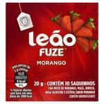 Chá Morango Leão Fuze Caixa 20g 10 Unidades