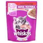 Alimento para Gatos Filhotes Jelly Carne Whiskas Sachê 85g