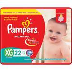 Fralda PAMPERS Supersec XG 22un