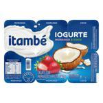 Iogurte Parcialmente Desnatado Morango + Coco Itambé Bandeja 540g 6 Unidades