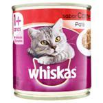 Patê para Gatos Adultos 1+ Carne Whiskas Lata 290g