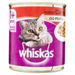 Alimento para Gatos Adultos 1+ Carne ao Molho Whiskas Lata 290g