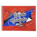 Caderno de Desenho e Cartografia Capa Flexível Credeal 275mm x 200mm 48 Folhas