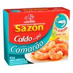 Caldo em Pó Camarão Sazón Caixa 37,5g 5 Unidades