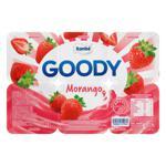 Bebida Láctea Fermentada Morango Itambé Goody Bandeja 540g 6 Unidades