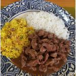 Picadinho de Filé Mignon (com arroz branco e farofa de bananas) 350g