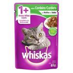 Alimento para Gatos Adultos 1+ Cordeiro ao Molho Whiskas Sachê 85g
